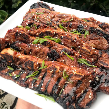 Korean BBQ Beef Short Ribs With Sesame Seeds And Scallions | Best Korean BBQ Sauce Recipes | International BBQ Cuisine