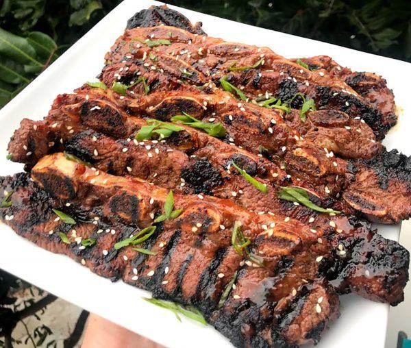 Korean BBQ Beef Short Ribs With Sesame Seeds And Scallions | Best Korean BBQ Sauce Recipes | International BBQ Cuisine