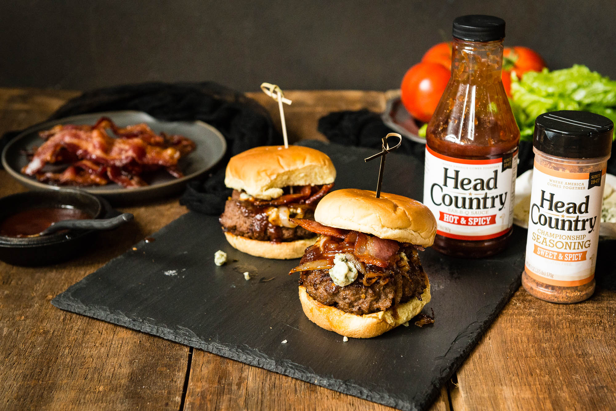 Grilled Burgers Recipe BBQ Grilled Blue Cheese Burgers with Bourbon | Best Burger Seasoning And BBQ Recipes