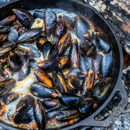 Campfire Beer Braised Barbecued Mussels | Best BBQ Camp Recipes | Best BBQ Seafood