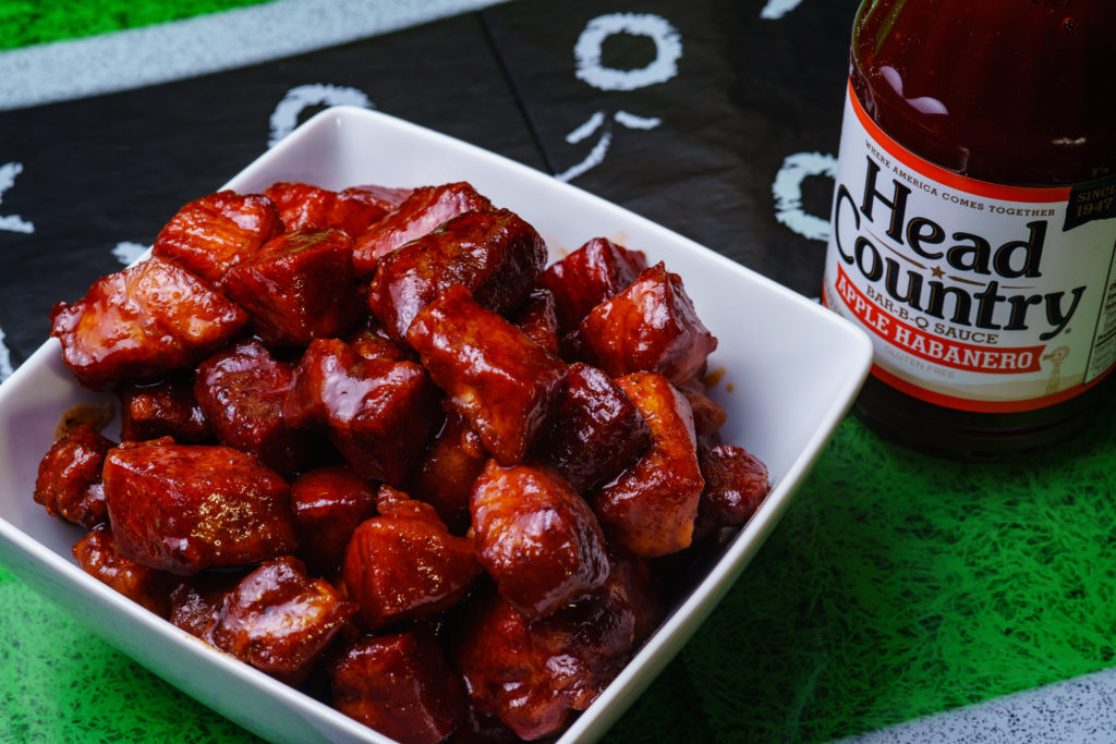 Best BBQ Appetizer Recipe Apple Habanero Pork Nuggets