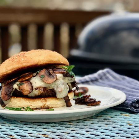 Marinated Mushroom and Swiss Burger Recipe | Best Burger Marinade And Seasoning Recipes