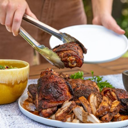 Boneless Chicken Thigh Marinade Grilling BBQ Recipe