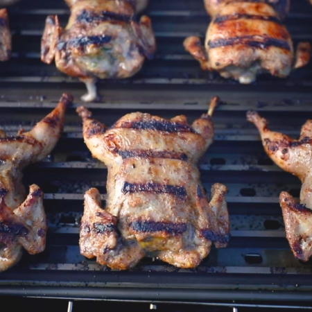 Quail is easy to cook with this recipe for Sausage-Stuffed BBQ Quail.