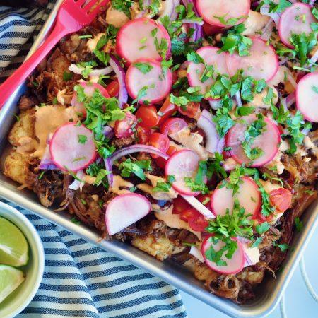 BBQ Pulled Pork Street Taco Style Totchos