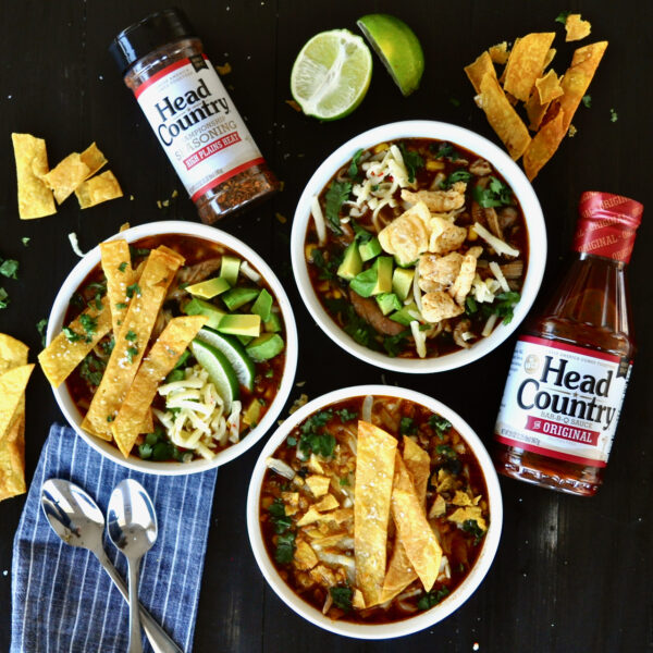 Fireside Chicken Tortilla Soup by Head Country BBQ Sauce
