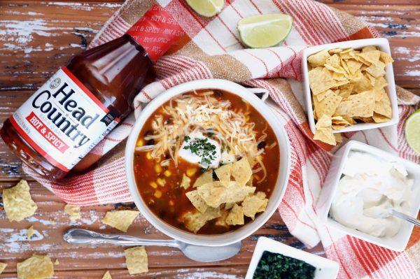 Instant Pot BBQ Turkey Enchilada Soup Thanksgiving Leftovers