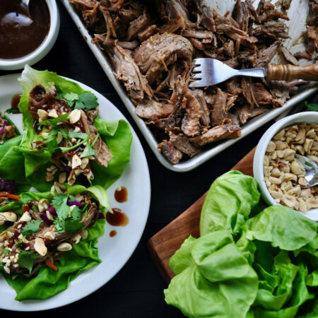 Asian Lettuce Wraps with BBQ Pulled Pork | Meal Prep, Lettuce Wraps, Lettuce Wraps Recipe, What lettuce is the best lettuce for lettuce wraps