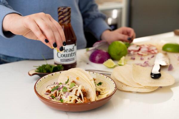 Leftover BBQ Chicken Keto Taco Bowls | leftover chicken recipes, leftover BBQ chicken recipes, leftover shredded chicken recipes